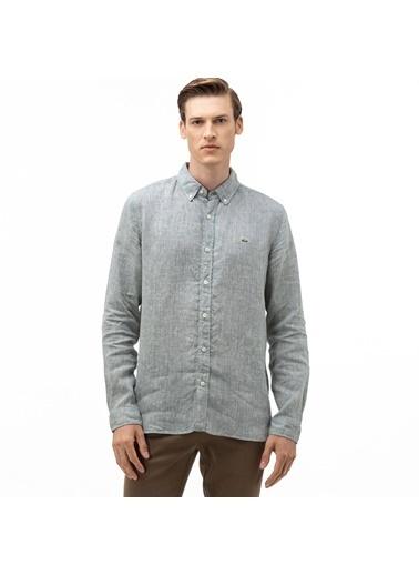 Lacoste Erkek Slim Fit Gömlek CH4990T.S86 Yeşil